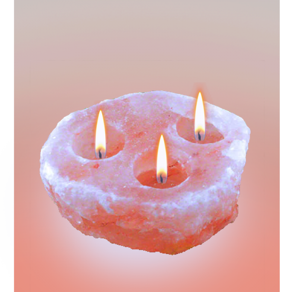 Natural Pink Salt Candle Holder III