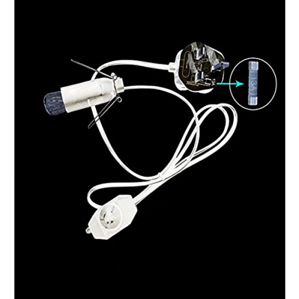 Salt Lamp Replacement Cable Cord with Dimmer + light Bulb 15 watts