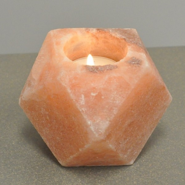 Pink Diamond Himalayan Salt Candle Holder