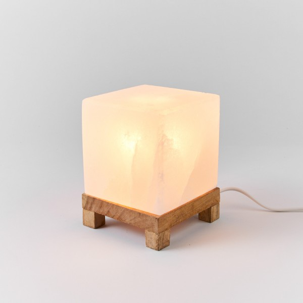 White Himalayan Salt Lamp Square Shape
